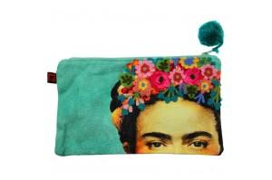 Κεντημένο Νεσεσέρ Frida Kahlo (Mint Green)
