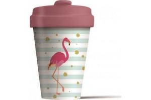 Chic-Mic Bamboo Cup Flamingo